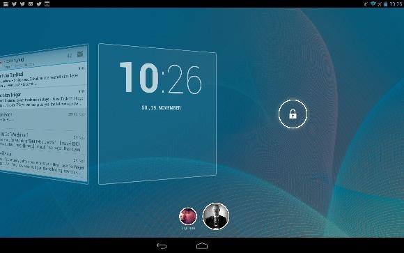 Screenlock Kalender Nexus 10