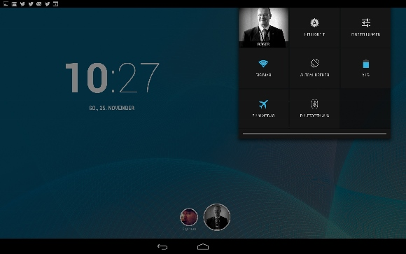 Notification Nexus 10