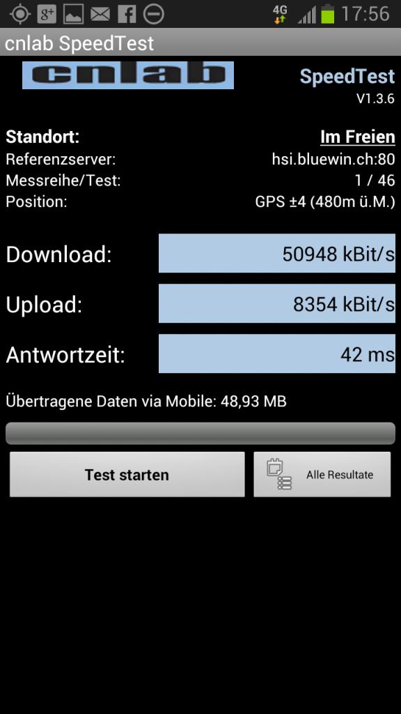 Swisscom 4G LTE Luzern