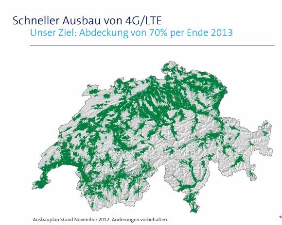 Swisscom LTE Ausbau 2013
