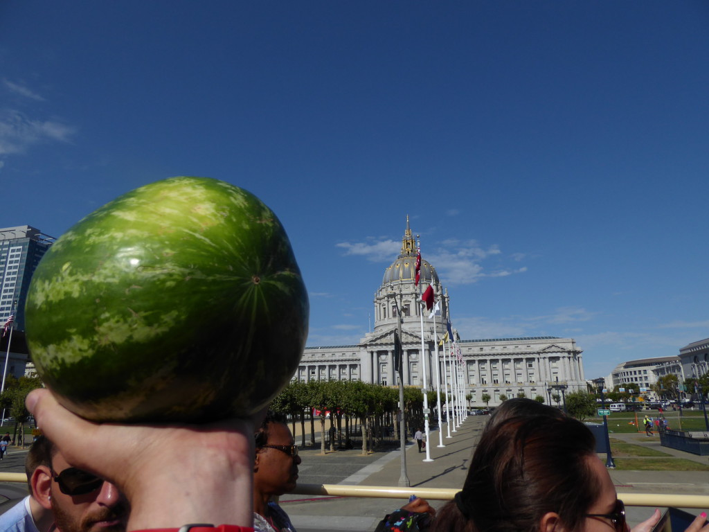 City Hall in San Francisco und die Wassermelone