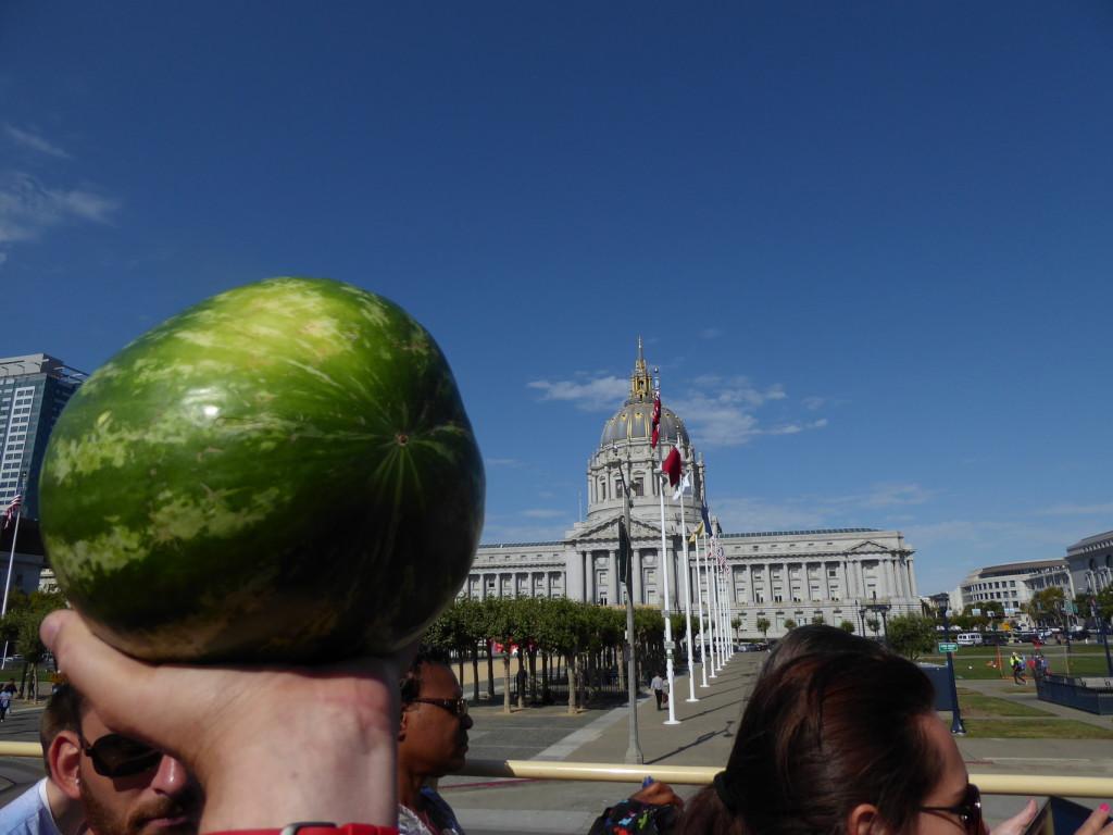 City Hall in San Francisco und die Wassermelone