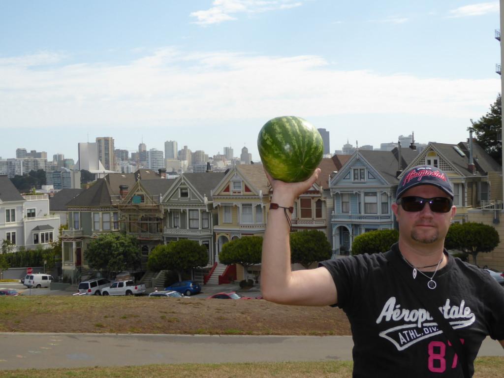 die Painted Ladys und die Wassermelone in San Francisco