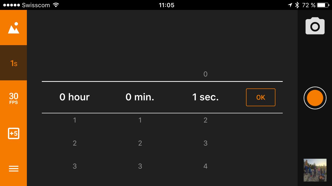 von 1 Sek bis 24 Stunden ist alles Möglich